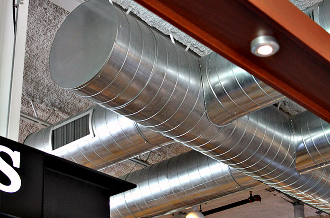 Exposed Spiral Duct : Spiral duct system self sealing macy industries