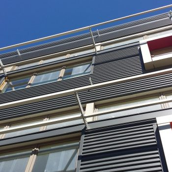 Custom metal awnings fabricated and installed by Macy Industries
